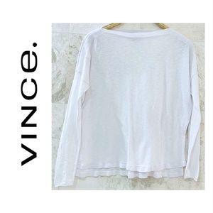 Vince {S} Oversized Sweater Slub Boatneck White